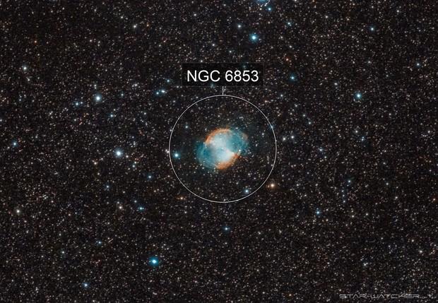 M27 Dumbbell Nebula 400mm