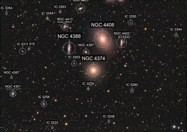 M84, M86 and part of Markarian's Chain