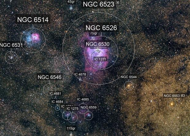 M8-M20 Region