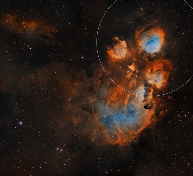 NGC 6334 - Cats Paw, Narrow Band