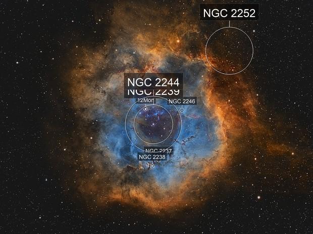 NGC 2244 Narrowband