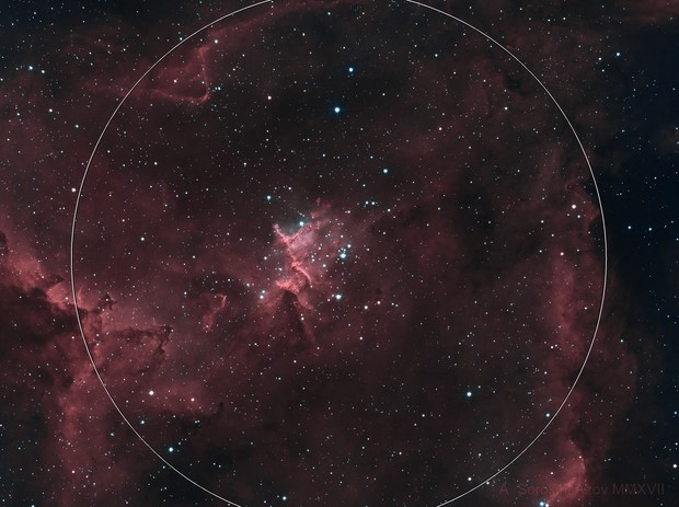 IC 1805, bicolor