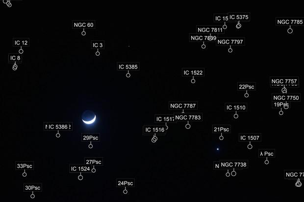 Moon, Mars, Venus Triangle