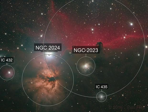 Horsehead & Flame nebulae LRGB