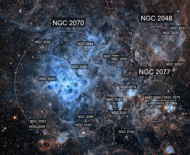NGC 2070 - Tarantula Nebula HST palette
