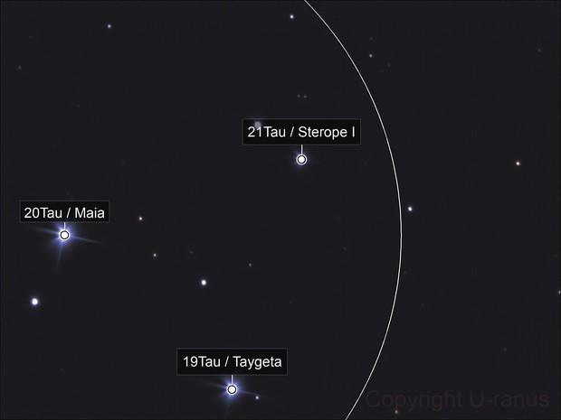 M45 - Taygeta, Maia, Asterope & Tau22