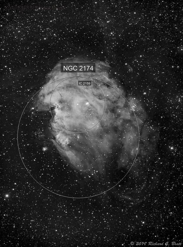 NGC2174 - Monkey Head Nebula in Ha
