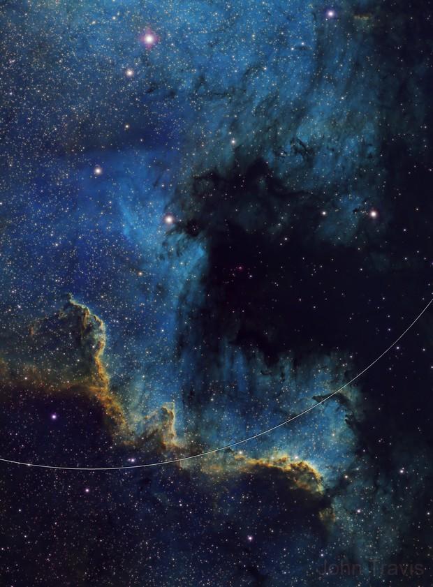 Cygnus Wall in NGC 7000