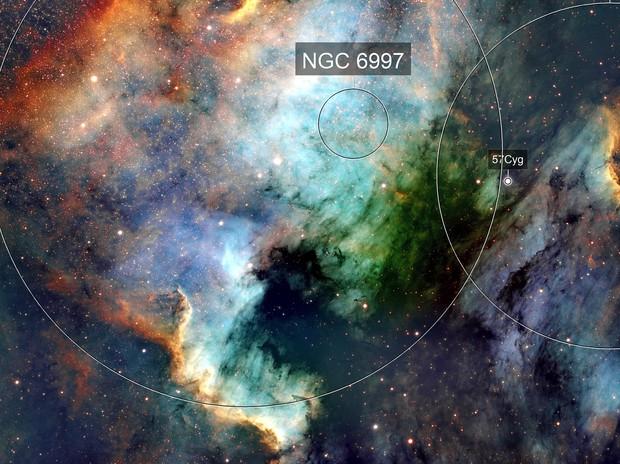 NGC 7000 North American Nebula and Pelican Nebula - SHO NB - Esprit 80