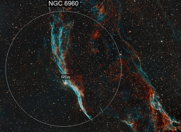 NGC 6960 - Western Veil Nebula - Narrowband SHO - Orion ED80 - ASI1600MM