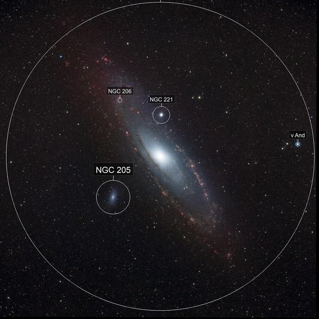M31 Andromeda Galaxy narrow-band data
