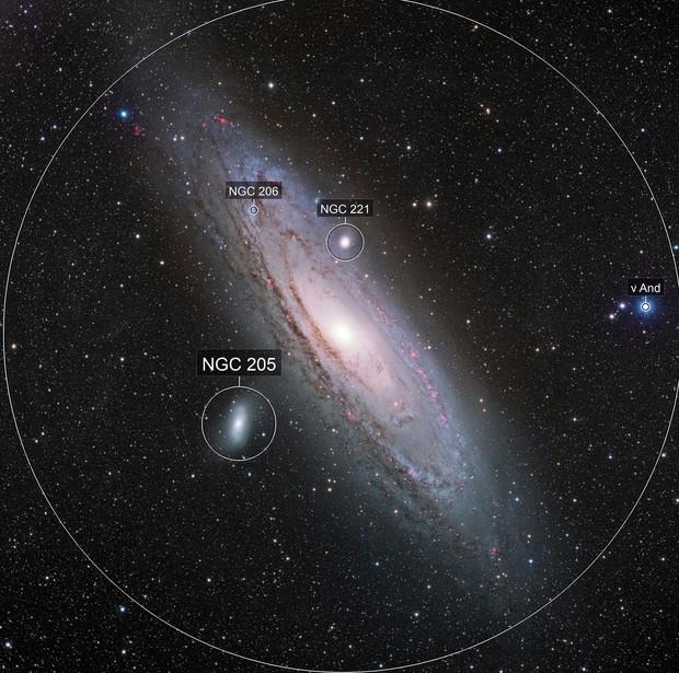 M31 Andromeda Galaxy [Ha,SII,OIII]LRGB