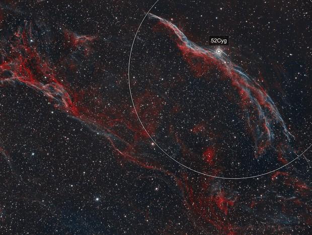 The Western Veil Nebula in Cygnus