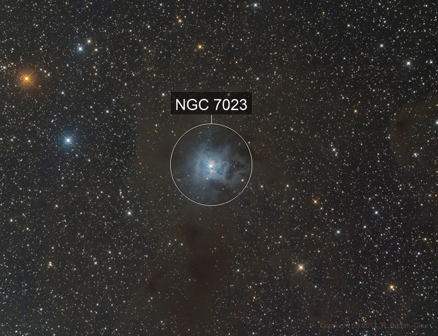 Iris Nebula in Cepheus