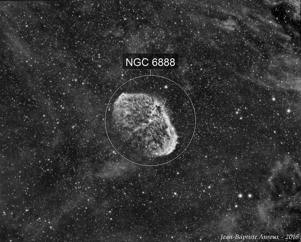 NGC6888 Ha - Première image à la CCD !