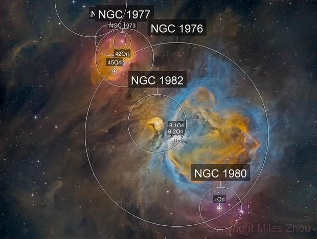 Orion Nebula HDR in Hubble Palette -- DSW