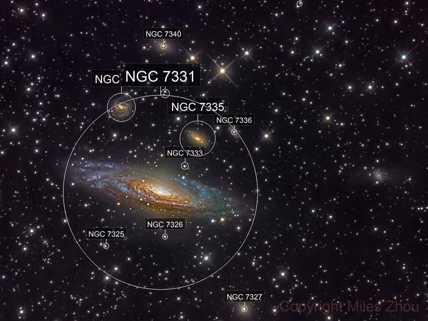 NGC 7331 (A Spiral Galaxy in Pegasus)