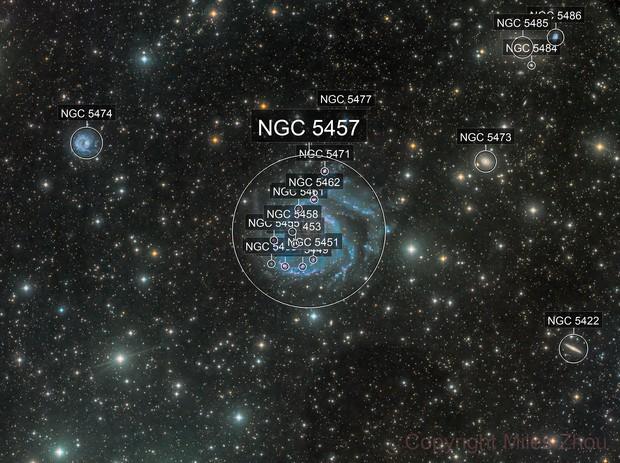 Pinwheel Galaxy (Messier 101) Wide
