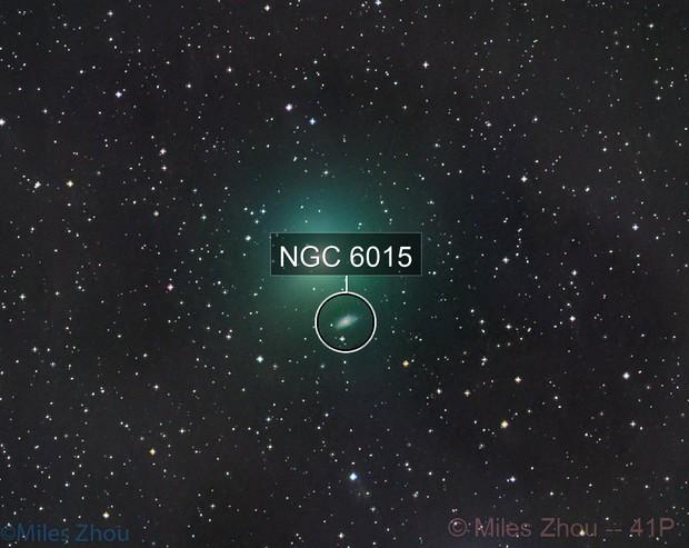 Comet 41P Tuttle–Giacobini–Kresák with Galaxy NGC 6015