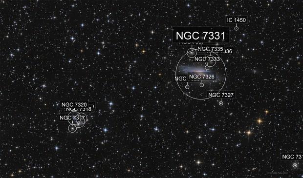 NGC 7331 - Stephan's quintet