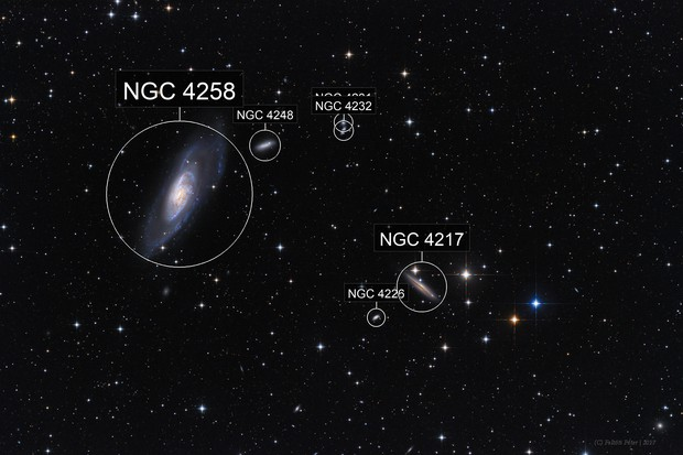 Messier 106 and NGC4217
