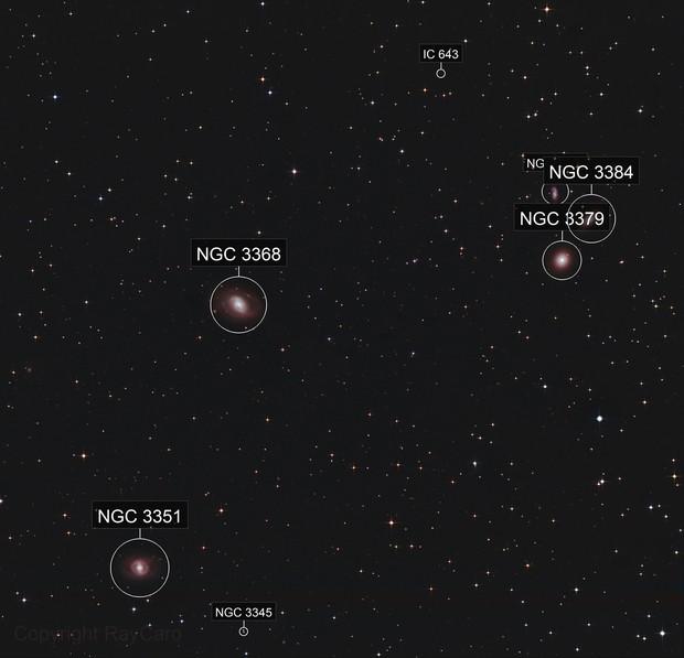 Messier 95  - 96 - 105 - Galaxies & Co - Leo Quintet