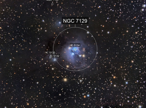 NGC7129 Reflection Nebula