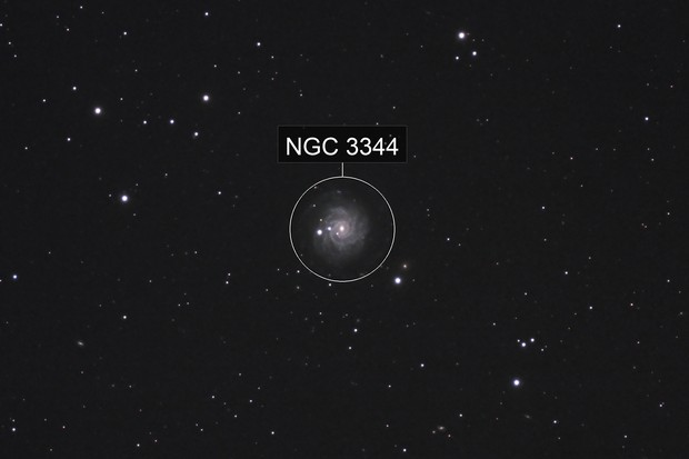 The sliced onion galaxy, NGC 3344