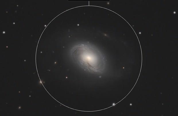 Galaxy M96 & asteroid Hedda (207)