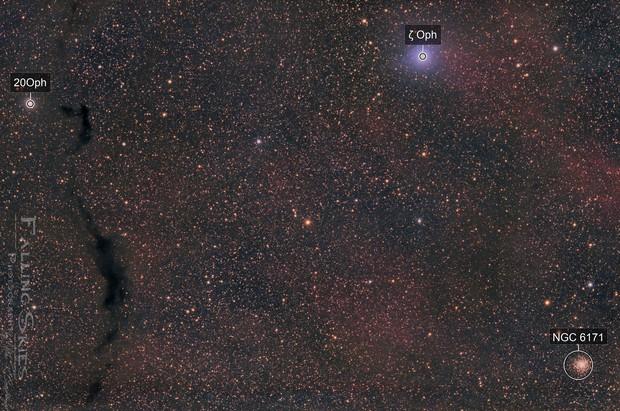 At Ophiuchus ´   Hands- LDN 234, 204,191, LBN16, SH2-27 and M 107