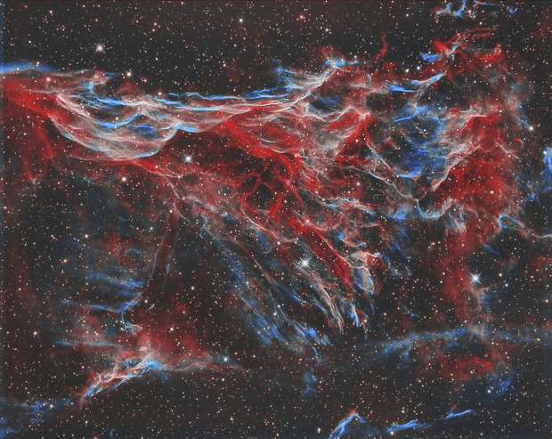 Pickering's triangle in the Veil nebula - bi-colour - sometimes referred to as NGC 6979