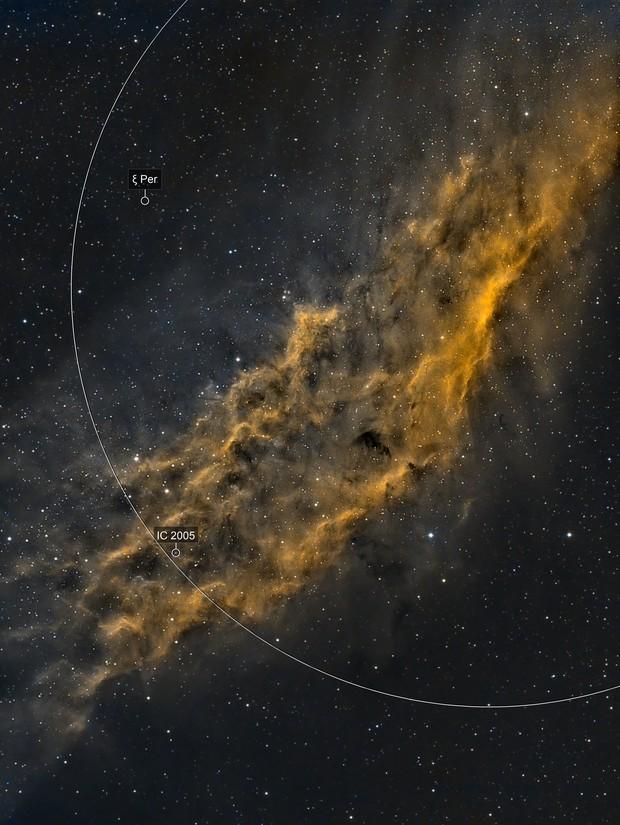 NGC 1499 - California Nebula (SHO)