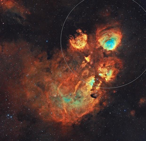 NGC 6334 SHO - The Cat's Paw Nebula