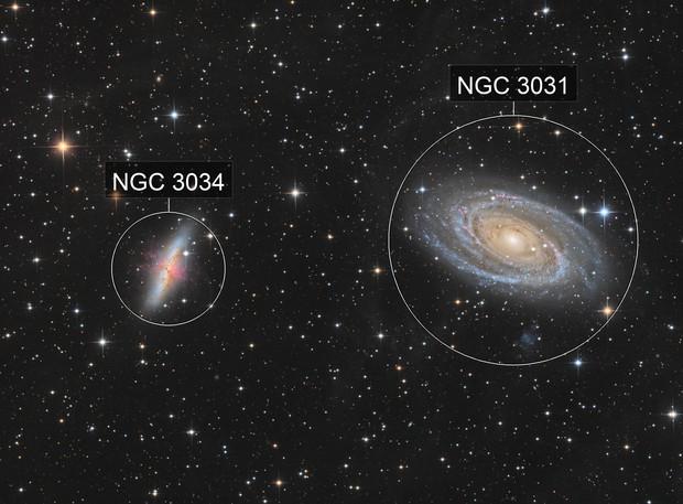 M81 & M82 in LRGB-HA high definition