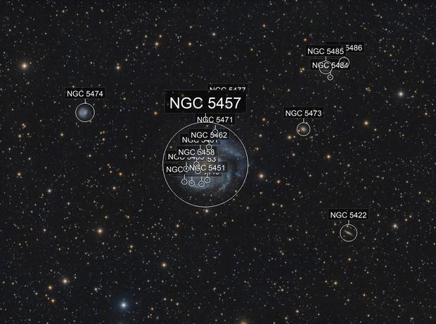 Messier 101 - The Pinwheel Galaxy - Deep Image