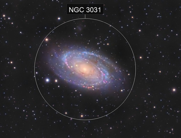 Messier 81 en LHaRVB crop