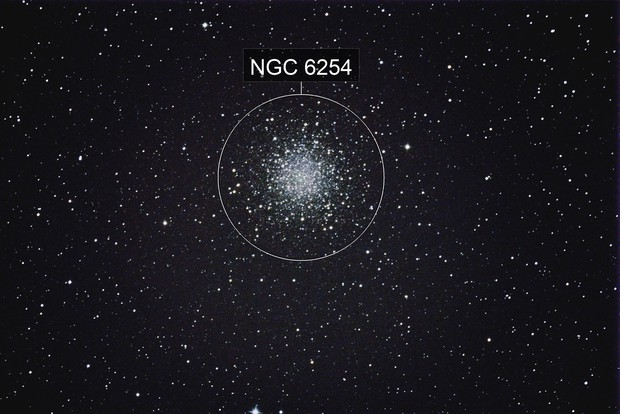 M10  a Globular Cluster in Ophiuchus