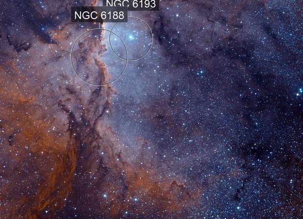 NGC 6188 Hubble Palette