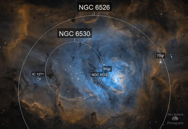 The Lagoon Nebula in SHO