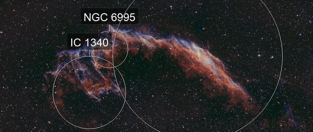 NGC6992 Joker's smile aka Veil Nebula