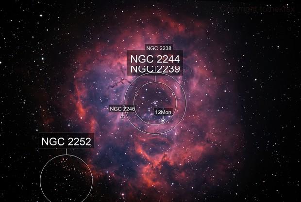 NGC2244 Rosette bicolor