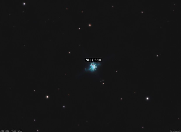 NGC 6210 - Turtle Nebula (wider field)