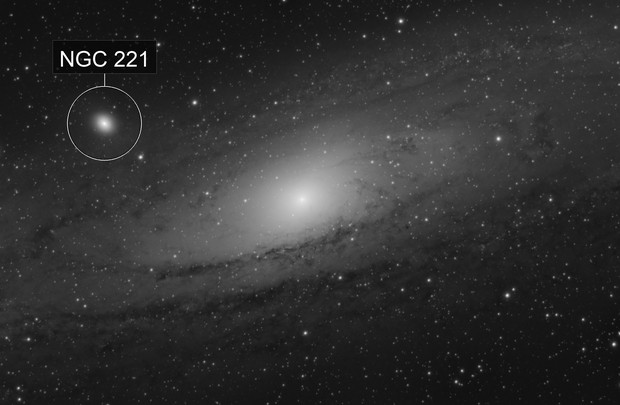 M31 the Andromeda Galxy: A lucky night