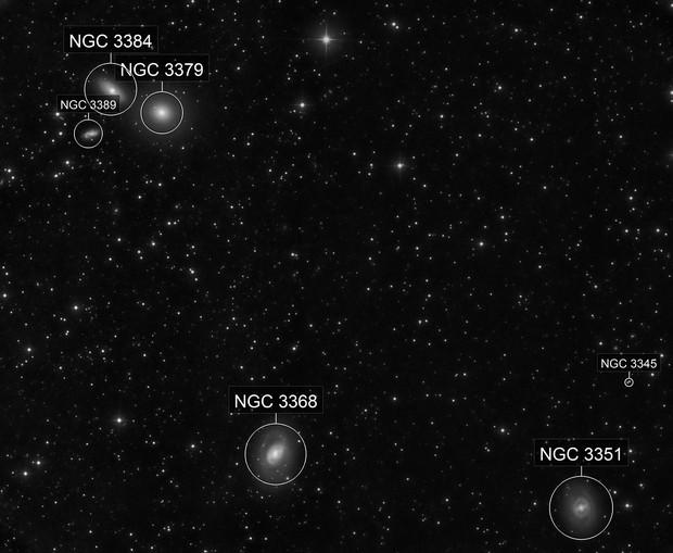 M095 2017 + M96 M105 NGC3384 NGC3389