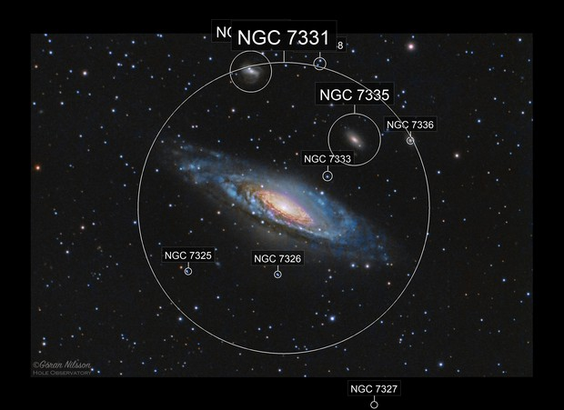 """NGC 7331 Deer Lick Group - first light with Meade 14"""""""