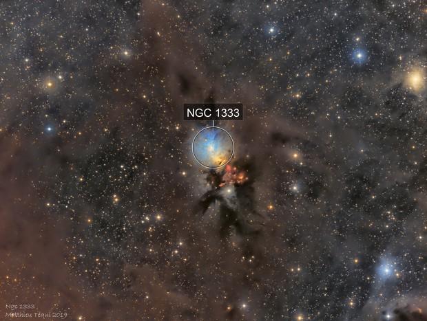 Ngc 1333-nébuleuse de l'embryon LRGB