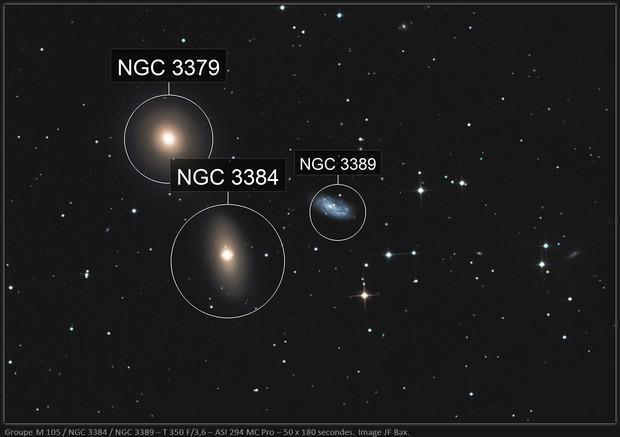 Groupe M 105 / NGC 3384 / NGC 3389 - Leo