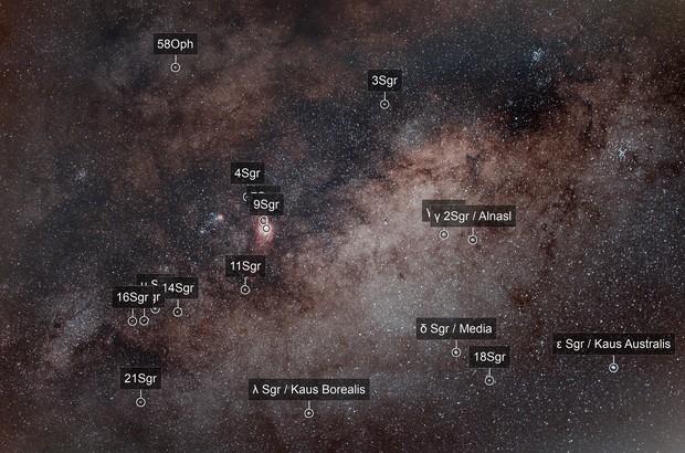Sagittarius Area wide angle