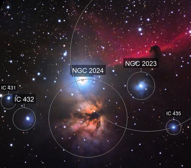 NGC 2024 - B33 Flammen und Pferdekopf nebel