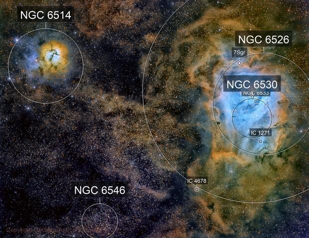 Messier 8 & Messier 20 en LHaSHORGB